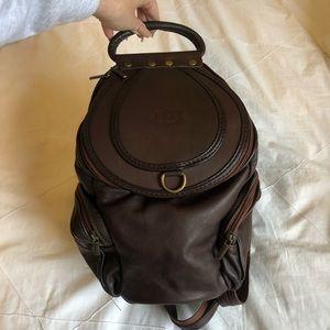 NWOT Leather mini backpack